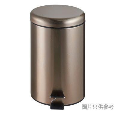 台灣製圓形緩降腳踏垃圾桶12L 250W x 390Hmm  -玫瑰金