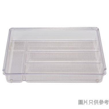 INTERDESIGN可延伸塑膠餐具盤附分隔 286W x 362D x 57Hmm