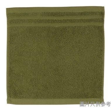 SOHO NOVO 全棉淨色緞檔方巾 35W x 35Dcm - 糖果綠