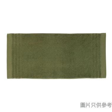 SOHO NOVO 全棉淨色緞檔面巾 75W x 35Dcm - 糖果綠