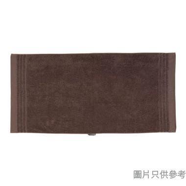 SN 全棉淨色緞檔浴巾,60x120cm,0.288kg,啡色 ,順毛