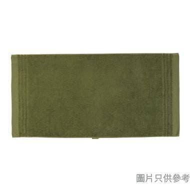 SOHO NOVO 全棉淨色緞檔浴巾 120W x 60Dcm - 糖果綠
