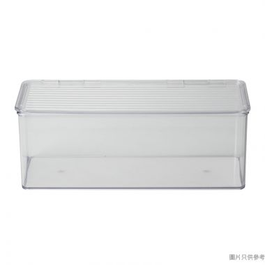 INTERDESIGN塑膠廚用收納箱附蓋 340W x 140D x 125Hmm