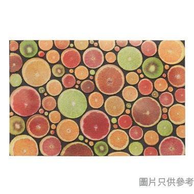 MOSAIC 水果圖案植絨橡膠底地墊,38.5x58.5cm,E1523FR