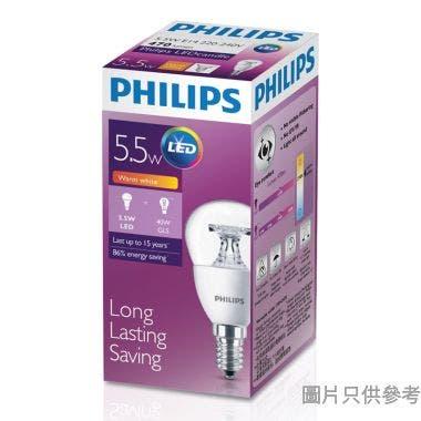 PHILIPS飛利浦5.5-40W E14螺頭 CL LED Candle小球膽-暖黃光