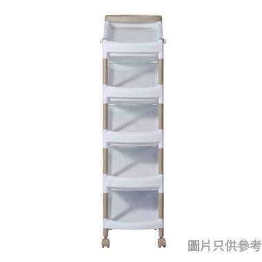 活動9層z型鞋架(可置9對鞋) 255W x 320D x 894Hmm - 白色配奶茶色