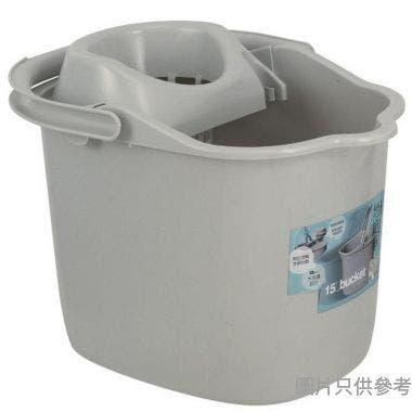 SOHO NOVO塑膠地拖桶附滾輪15L  - 灰色