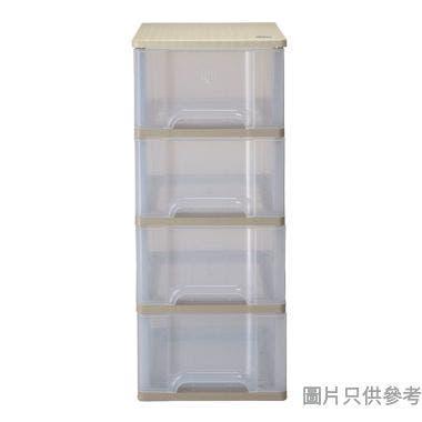 SOHO NOVO 4層 MDF 板面塑膠層櫃 415W x 545D x 970Hmm - 奶茶色