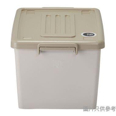 SOHO NOVO塑膠有轆鎖扣儲物箱37L 380W x 505D x 300Hmm - 奶茶色