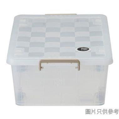 SOHO NOVO水立方塑膠有轆蓋儲物箱扁身35L 410W x 590D x 225Hmm - 透明