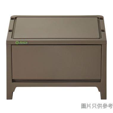 e-RACK日本製塑膠抽屜 363W x 288D x 227Hmm - 啡色