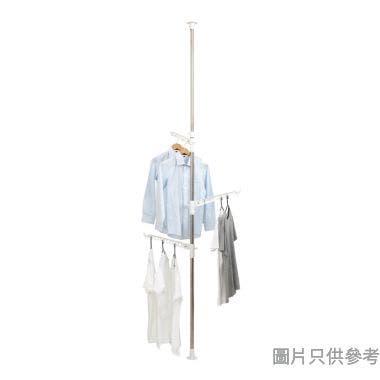不鏽鋼頂天立地多功能掛衣架(承重15kg) 220-275W x 40Hcm