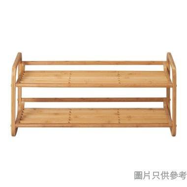 2層竹木鞋架785W x 300D x 330Hmm - 原木色