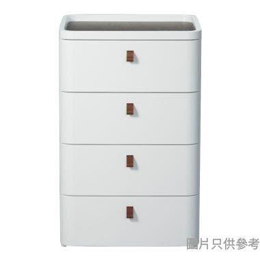ROYAL日本製4層塑膠層櫃 545W x 410D x 875Hmm - 白色
