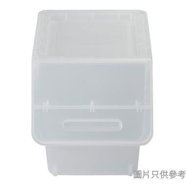 Froq日本製塑膠儲物箱 285W x 460D x 310Hmm (細) - 透明色