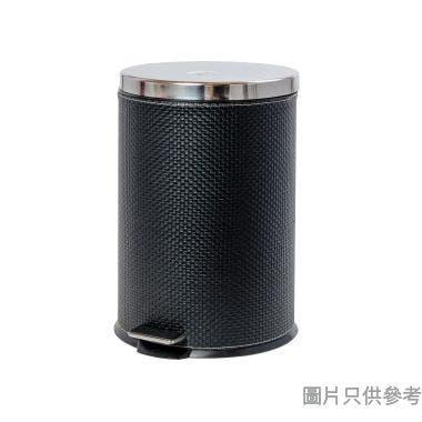 SOHO NOVO PVC仿皮緩降腳踏垃圾桶 12L - 黑色