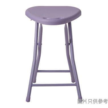 MIDA三角膠面摺凳305W x 300D x 463Hmm - 紫色