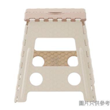 GIA 台灣製巧易摺合凳 390W x 322D x 395Hmm - 啡色配淺灰色