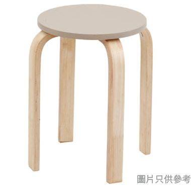VOLTO 實木圓疊凳(EN12520認證),啡色, 330DIAX450HMM