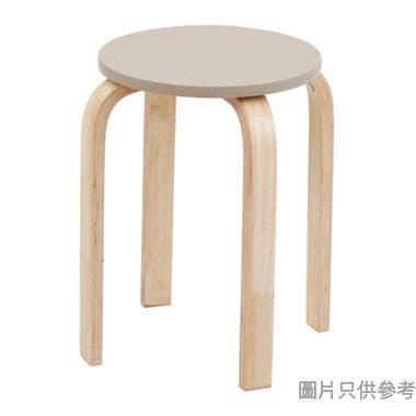 VOLTO 實木圓疊凳330D x 450Hmm - 奶茶色