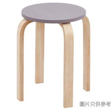 VOLTO 實木圓疊凳(EN12520認證),紫色, 330DIAX450HMM