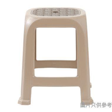 BLU台灣製塑膠凳 410W x 360D x 470Hmm - 啡色配奶茶色