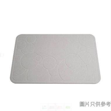 E.WINDOW 450 x 350 x 9mm 珪藻土浴室墊(送防滑墊) - 灰色
