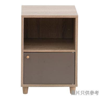 2層儲物櫃 420W x 400D x 530Hmm - 木紋色配奶茶色或啡色