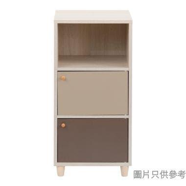 3層儲物櫃420W x 400D x 790Hmm - 淺胡桃色配奶茶色或啡色