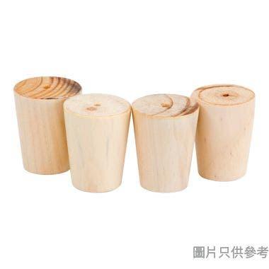 實木腳DIA60mm (4個裝) - 木紋色