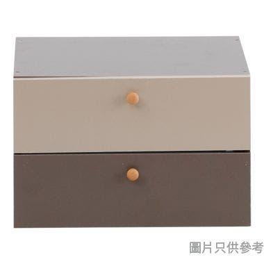 2櫃桶 384W x 300D x 119Hmm - 奶茶色配啡色