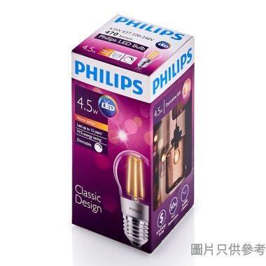 PHILIPS飛利浦4.5-50W E27螺頭P45 LED Classic球膽-暖黃光