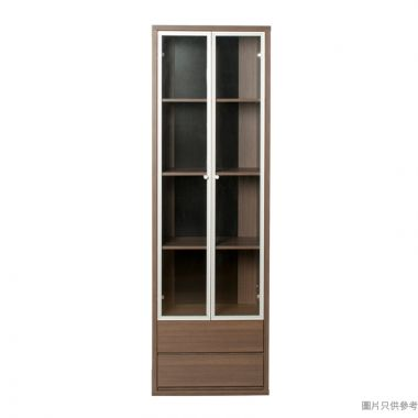 STAPLE 雙玻璃門兩櫃桶書櫃600W x 400D x 1900Hmm