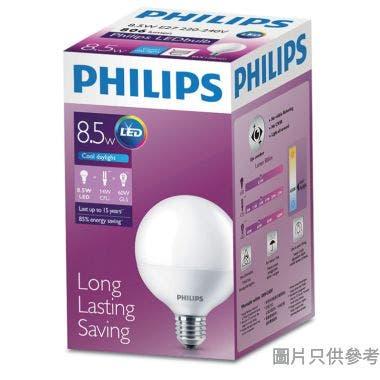 PHILIPS飛利浦8.5-70W E27螺頭G93 LED大球膽-冷日光