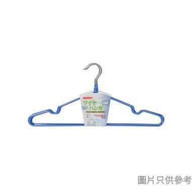 PVC防滑衣架附裙勾 400W x 195Hmm (6個裝) - 藍色