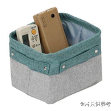 SOHO NOVO 仿麻收納籃 200W x 170D x 130Hmm (細 ) - 淺藍色配淺灰色