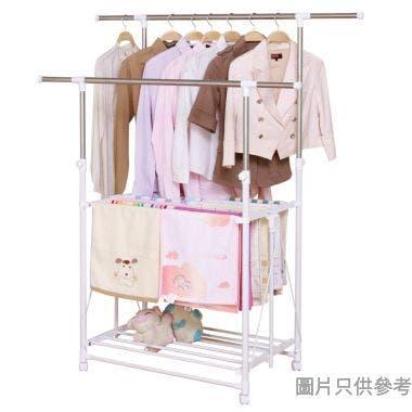 不鏽鋼摺疊式雙層曬衣架(承重30kg) 89-158W x 55D x 97-170Hcm