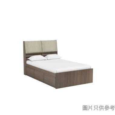 Staple 48吋x72吋布藝儲物床 - 胡桃色