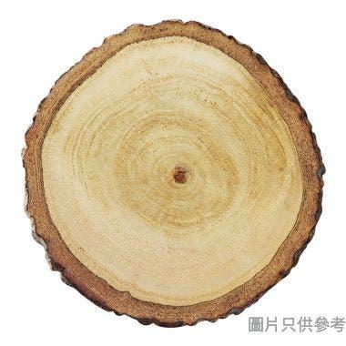 泰國製圓形木杯墊附樹皮  76W x 25D x 76Hmm