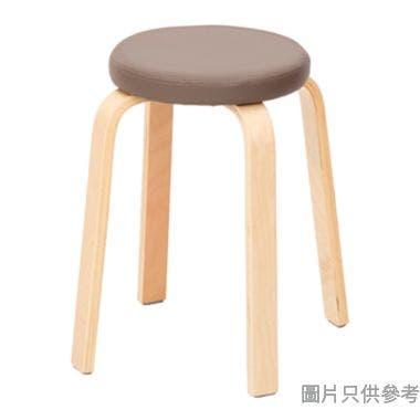 仿皮厚坐墊木腳圓疊凳335W x 335D x 450Hmm
