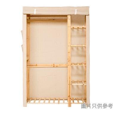 大布套木衣櫃1160W x 510D x 1760Hmm - 米黃色