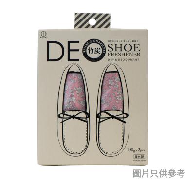 KOKUBO小久保日本製鞋用天然竹炭包100g (1對裝) - 粉紅色