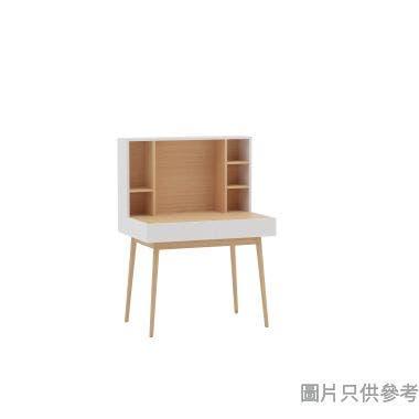 TITUS工作檯連上座,木紋色配白色