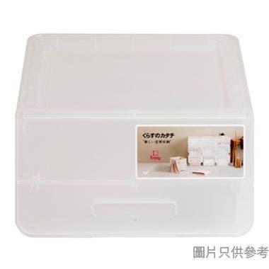 Froq 日本製塑膠儲物箱 385W x 460D x 240Hmm (加細) - 透明