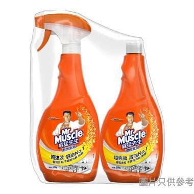 (203099)臺灣製威猛先生重油廚房清潔劑+補充裝,500g