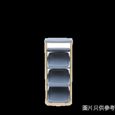 日本製活動6層z型鞋架(可置6對鞋) 325W x 370D x 790Hmm - 藍色