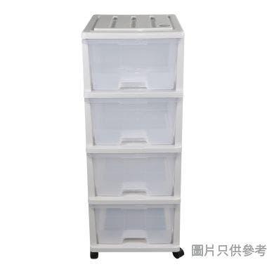 4層塑膠層櫃535W x 400D x 1020Hmm KD499 - 灰色