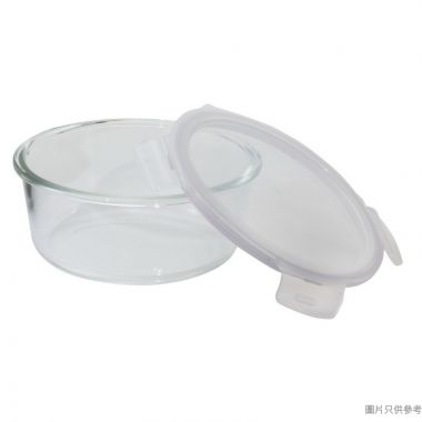 LOCK & LOCK耐熱玻璃圓形保鮮盒870ml(微波爐/焗爐適用)