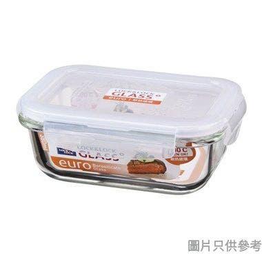 LOCK & LOCK耐熱玻璃長方形保鮮盒380ml(微波爐/焗爐適用)