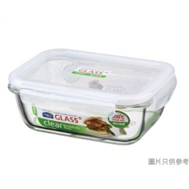 LOCK & LOCK耐熱玻璃長方形保鮮盒730ml(微波爐/焗爐適用)